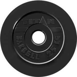 Диск обрезиненный Titan 51 мм 25 кг черный диск обрезиненный titan 26 мм 5 кг черный