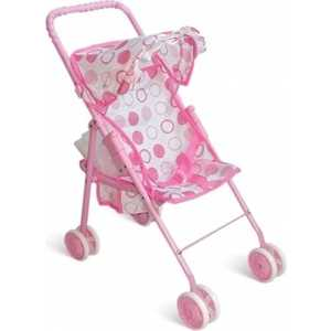 Коляска для кукол 1Toy розовый Т52259 платья для мамы и дочки в спб