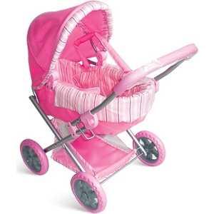 Коляска для кукол 1Toy с люлькой премиум розовая Т52268