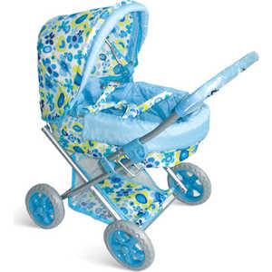 Коляска для кукол 1Toy с люлькой премиум голубая Т52269