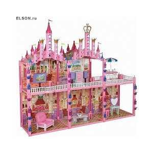 Замок для кукол 1Toy Красотка с мебелью Т53237