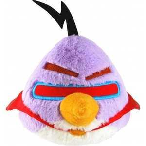 Мягкая игрушка Angry Birds Space фиолетовая птица, со звуком 40 см 93024 angry birds мяг игр 20см желтая птица и игрушка подвеска с клипом 7см