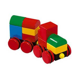 Brio Конструктор из кубиков на магнитах, поезд 30124