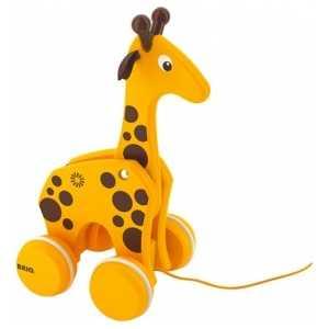 Brio Каталка-жираф, на веревочке 30200