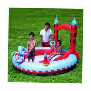 Bestway Надувной бассейн ''Замок дракона'' с распылителем (221х193х150) 53037