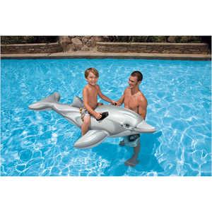Надувной дельфин Intex с держателем 201х76см от 3 лет 58539