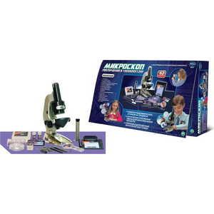 Eastcolight Микроскоп с объктивом разрешения 100х600х1200 с аксессуарами, 62 предмета в наборе 88021