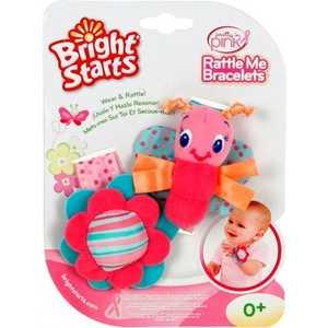 Bright Starts Игрушки-гремушки на ручку ''Стильная пара браслетиков'', розовые 8975