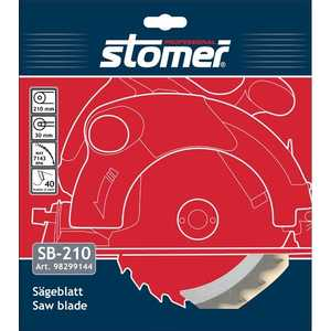 Диск пильный Stomer 210х30мм 40зубьев (SB-210)