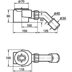 Сифон Grohe Talentto для душевых поддонов 52 мм (28965000) от ТЕХПОРТ