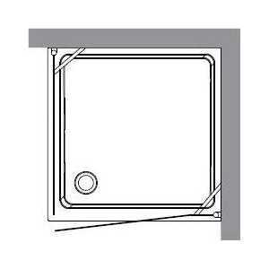 Душевой уголок Kerasan 90x90х180 см DX/SX квдрат (9145P1) от ТЕХПОРТ