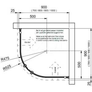 Душевой уголок INR Linc niagara 90х90 см (011101.1002.9090) от ТЕХПОРТ