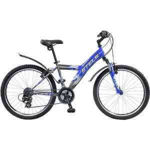 Велосипед Stels Navigator 570 чёрно-хромово-синий 18''