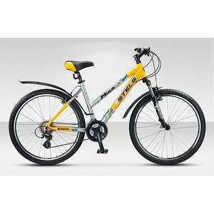 Велосипед Stels Miss 6300 серебристо-жёлтый 19,5''