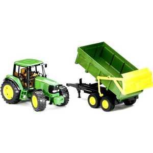 Трактор Bruder John Deere 6920 с прицепом 02-058 bruder трактор john deere 6920 с погрузчиком