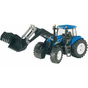 Трактор Bruder New Holland T8040 с погрузчиком 03-021
