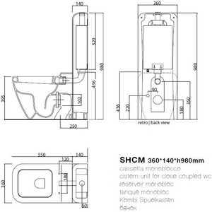 Cielo Jungle бачок ii для унитаза механизм (SHCMII SHMEC)