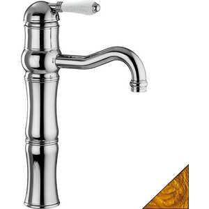 Смеситель для раковины Nicolazzi Classico высокий (3472GB76A) смеситель для мойки 201 высокий однорычажный коричневый polygran полигран