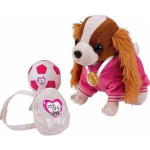 Chi Chi Love Кокер-спаниель плюшевая собачка, с рюкзаком, медалью и мячиком, 20 см 5894233