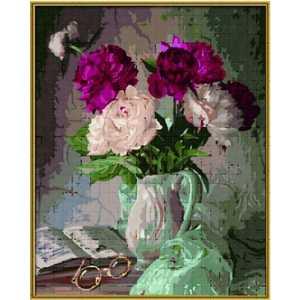 Раскраска по номерам Schipper ''Пионы в вазе'' 40х50см 9130558