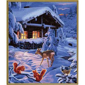 Раскраска по номерам Schipper ''Романтическая зимняя ночь'' 40х50см 9130630