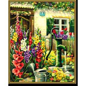 Раскраска по номерам Schipper ''Цветник у дома'' 40х50см 9130632