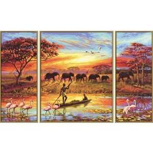 Раскраска по номерам Schipper ''Африка-магический континент'' 50х80см триптих 9260627