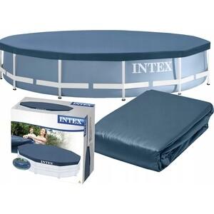 Крышка для каркасного бассейна Intex 3.66м (58411/28031) тент intex 28039 для каркасного бассейна rectangular frame 460x226 см выступ 20 см