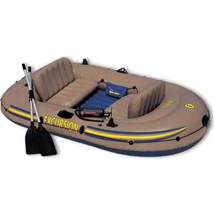 Надувная лодка Intex Экскурсия-3 (до 300кг) 262х157х42см + весла/насос, (68319)