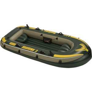 Надувная лодка Intex Seahawk 3 с подушками 68349/68349NP лодка надувная intex seahawk 2 68347