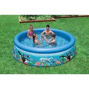 Фотография товара надувной бассейн Intex Easy Set Морской пейзаж 3.66х0.76м (54904) (237415)