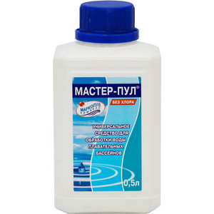 Средство безхлорное жидкое 4 в 1 Маркопул Кэмиклс М19 Мастер-Пул 0.5л жидкость для борьбы с водорослями маркопул кэмиклс альгитинн 3л м06