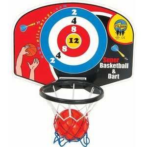Игровой набор Pilsan Баскетбол и дартс настенный 03400 баскетбольное кольцо pilsan с мишенью для игры в дартс
