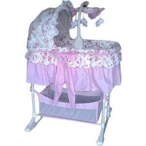 Колыбель-качалка Precious FLORECITA на колёсах (Розовая) PC 200 PFC высокий стул для кормления precious pc 353 green