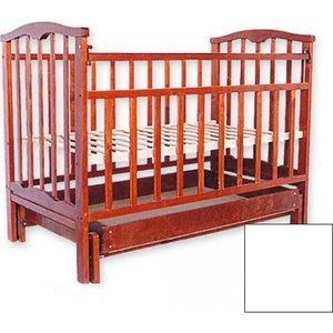 Кроватка Агат Золушка 4 поперечный маятник/ящик (белый) 52104