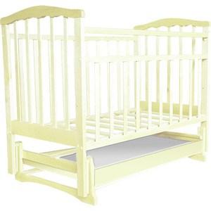 Кроватка Агат Золушка 4 поперечный маятник/ящик (слоновая кость) 52105 агат кровать детская золушка 4 попер маятник откр ящик вишня