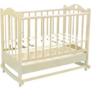 Кроватка Ведрусс ''Лана 2'' ящик/колеса/качалка (сердечко/слоновая кость)