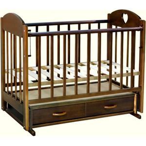Кровать детская Ведрусс ''Лана 3'' маятник/ящик (сердечко/орех)