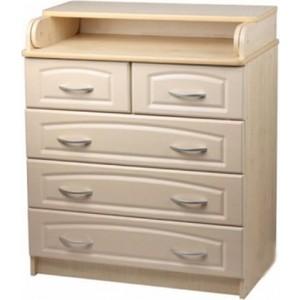 Фотография товара комод Атон-Мебель раскладной ПВХ (белый) КР80/5 (238469)