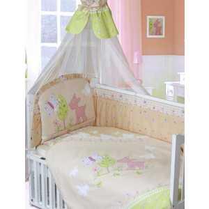 Комплект в кроватку Золотой гусь Little Friend 7 предметов (бежевый) 1263