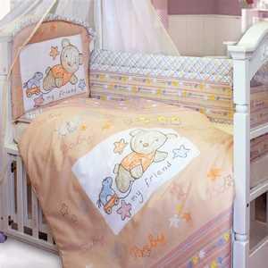 Комплект в кроватку Золотой гусь ''Zoo Bear'' 7 предметов (бежевый) 1253