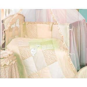 Комплект в кроватку Золотой гусь ''Кошки-мышки'' 7 предметов (желтый/бежевый) 1703