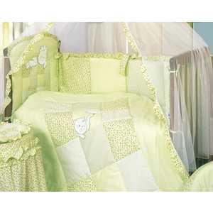 Комплект в кроватку Золотой гусь Кошки-мышки 7 предметов (зелёный) 1704