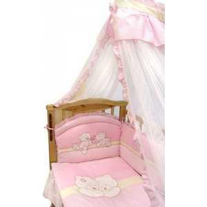 Комплект в кроватку Золотой гусь Лапушки 7 предметов (розовый) 1616 комплект в кроватку золотой гусь лапушки 7 предметов розовый 1616