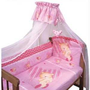 Комплект в кроватку Золотой гусь Мишутка 7 предметов (розовый) 1906 пеналы играем вместе пенал на молнии disney винни