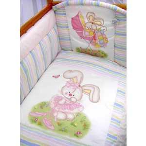 Комплект в кроватку Золотой гусь Радужный 7 предметов (розовый) 1166 комплект в кроватку золотой гусь mika сатин 7 пр розовый