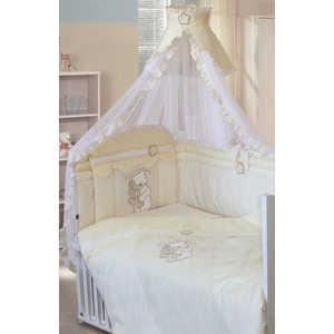 Комплект в кроватку Золотой гусь Сабина 7 предметов (бежевый/жёлтый) 1413 комплект постельного белья золотой гусь сабина 7 предметов 100% хлопок розовый