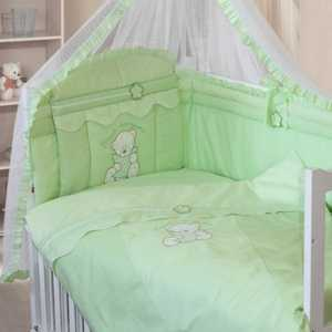 Комплект в кроватку Золотой гусь ''Сабина'' 7 предметов (зелёный) 1414