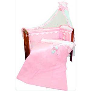 Комплект в кроватку Золотой гусь Сабина 7 предметов (розовый) 1416 комплект постельного белья золотой гусь сабина 7 предметов 100% хлопок розовый