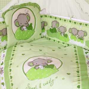 Комплект в кроватку Золотой гусь Слоник Боня 7 предметов (зеленый) 1914 золотой гусь слоник боня бежевый золотой гусь